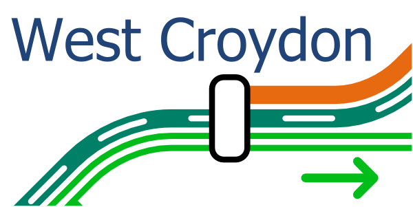 Alternative map of West Croydon Station