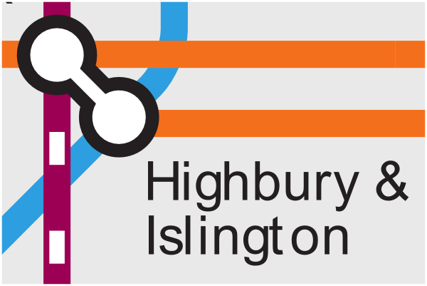 Official TfL map of Highbury and Islington station
