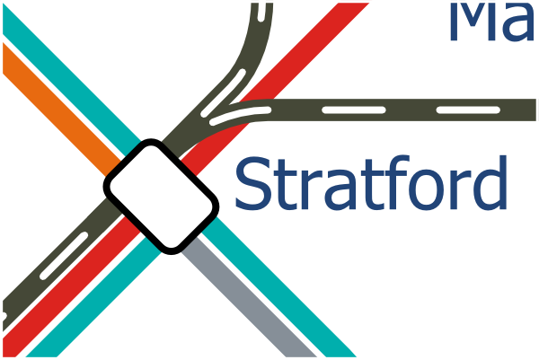 London Layout map of Stratford station