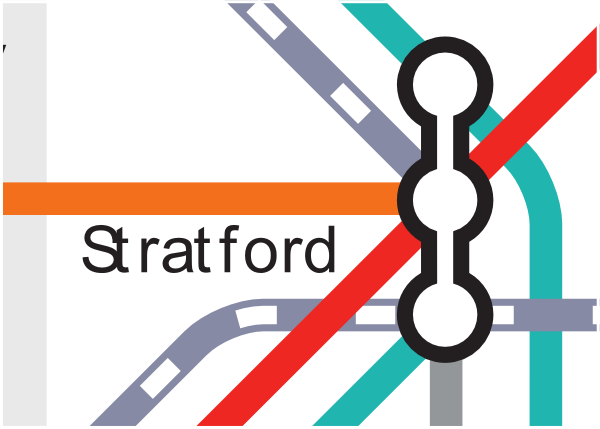 Official TfL map of Stratford station