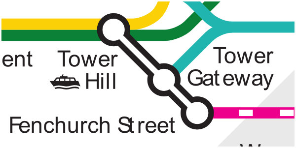 Official TfL map of Tower Hill stations