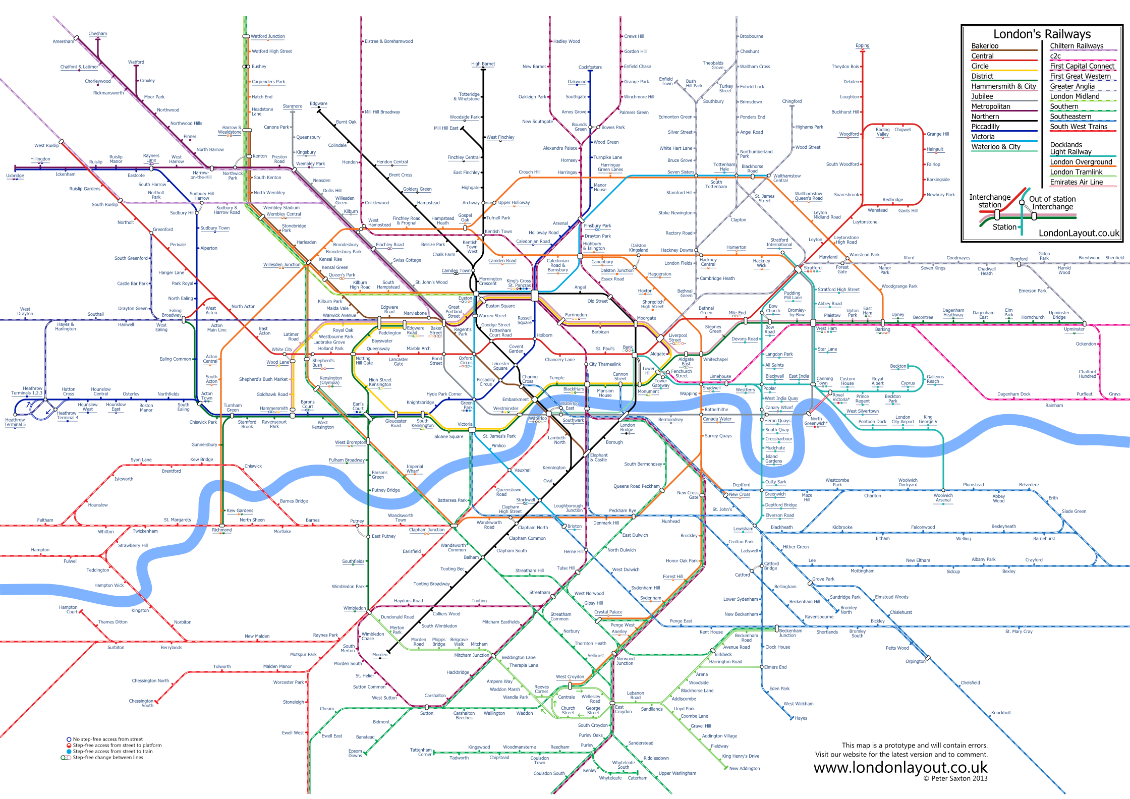 alternative tube and rail map design